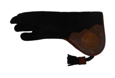 Lange valkerij handschoen